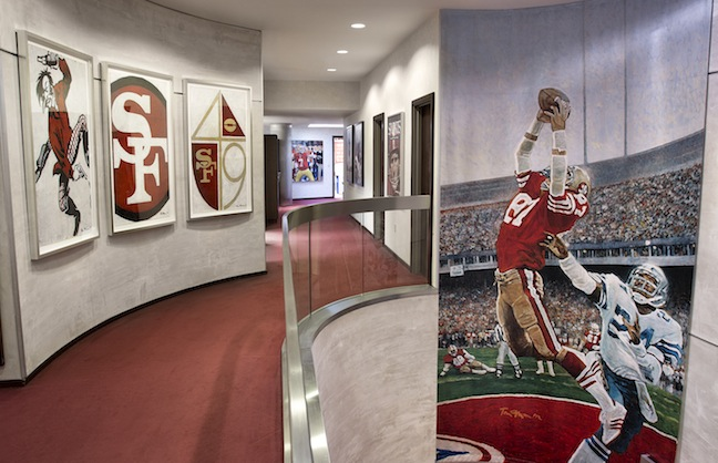 venues today  49ers to install museum