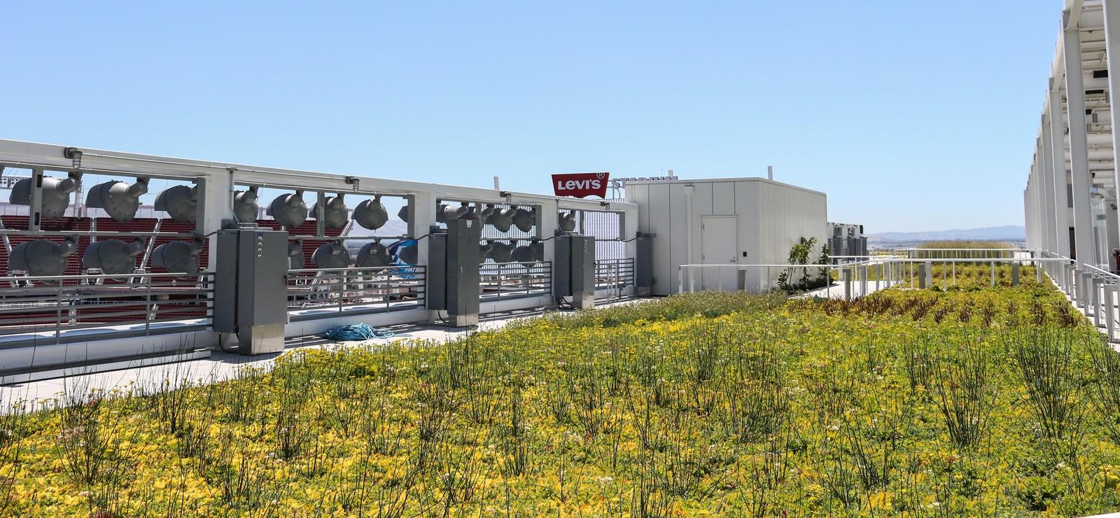 Levi S Stadium S Nrg Solar Terrace Green Roof In Vines