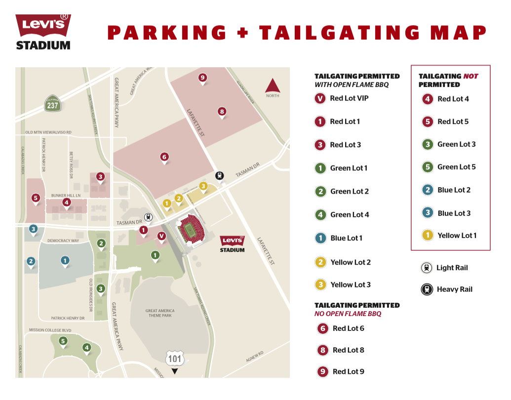 Fresh Levis Stadium Parking Map