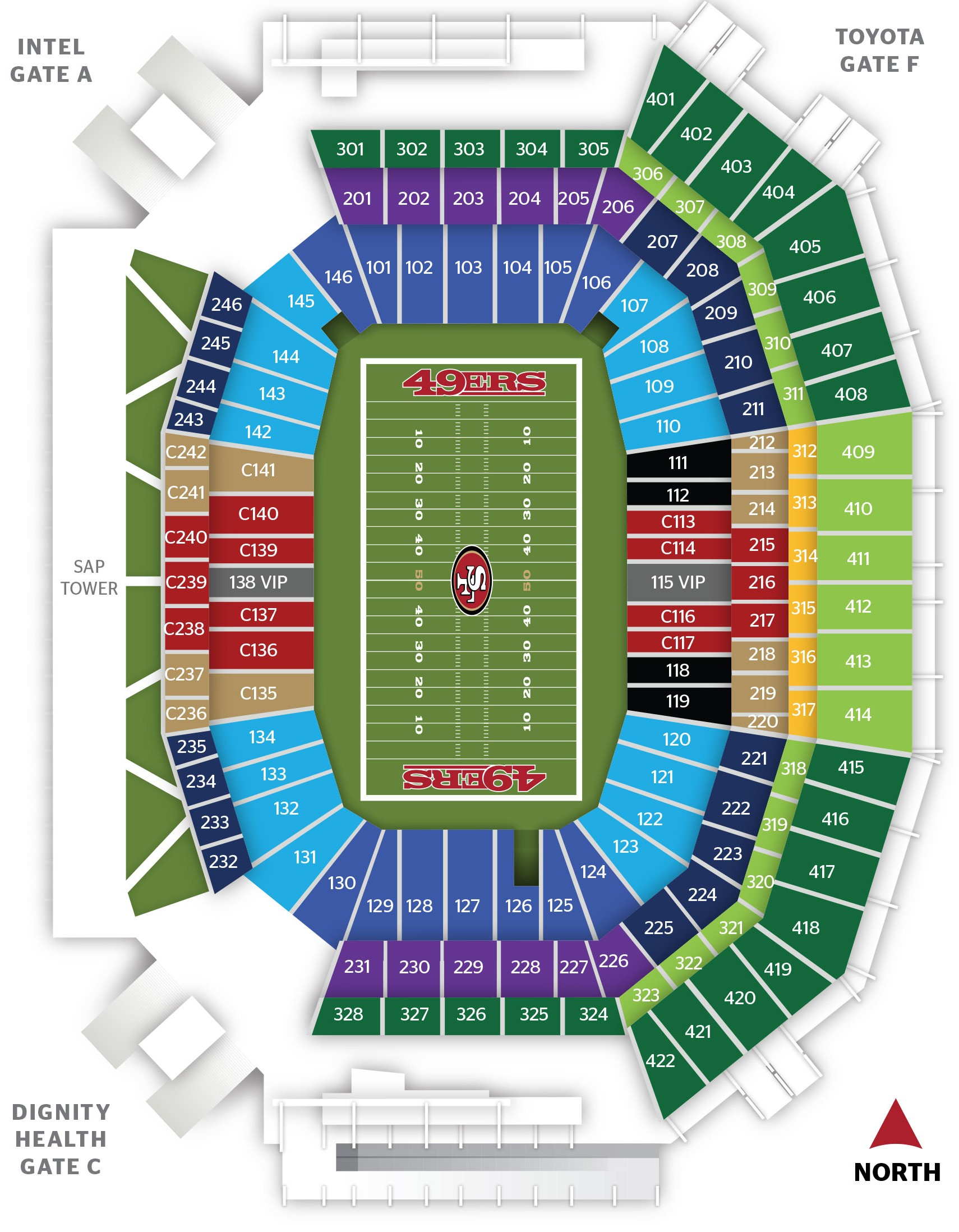 2015 LS 49ERS PRICING MAP