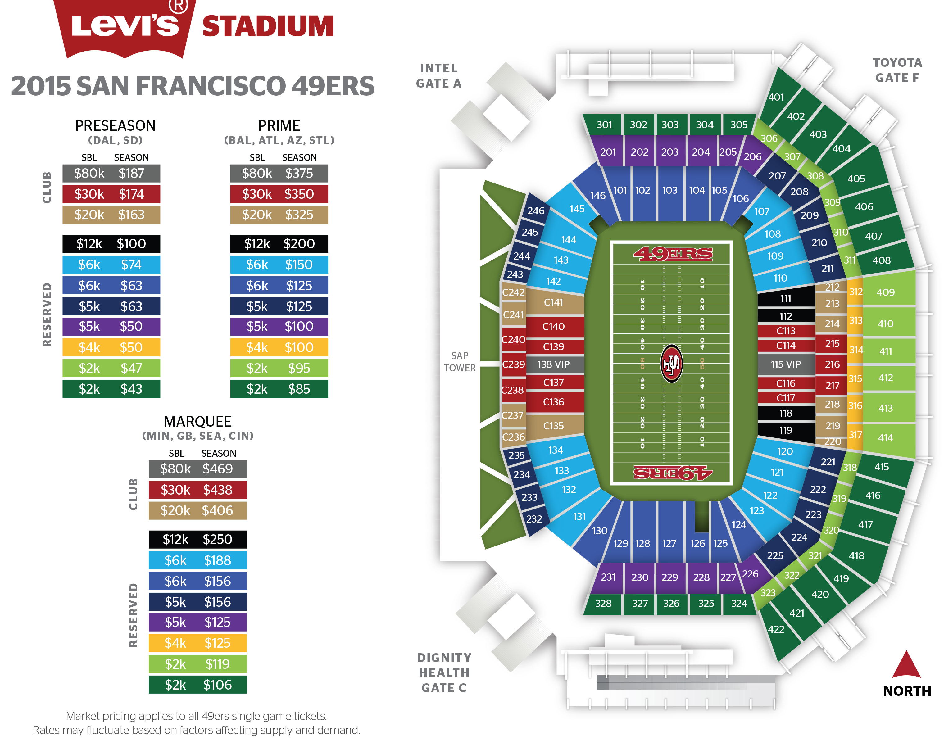 Find a seating chart for Levi s Stadium
