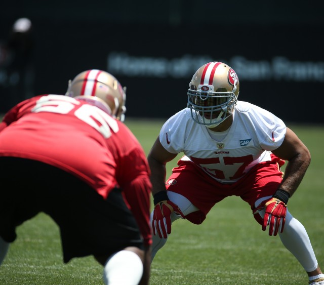 San Francisco 49ers hold Organized Team Activities on June 5, 2015 at SAP Performance Facility