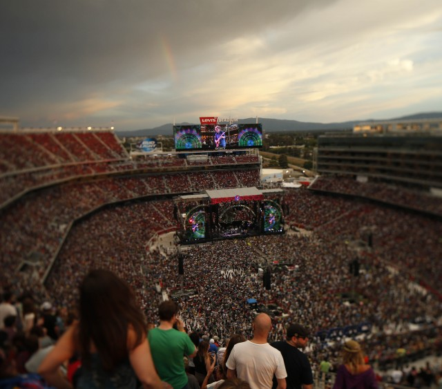 June 27, 2015:  Grateful Dead perform night one's show on their Fare Thee Well Tour  at Levi's Stadium (Photo © 49ers 2015)