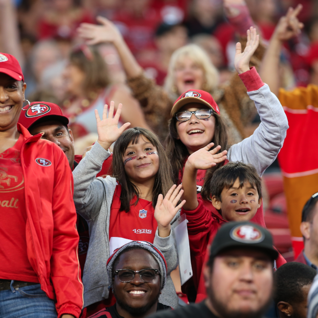 49ers Game Photo - Fans 2