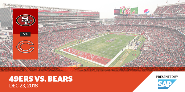 best sneakers 0720b 5fe72 49ers vs. Bears - Levi's® Stadium