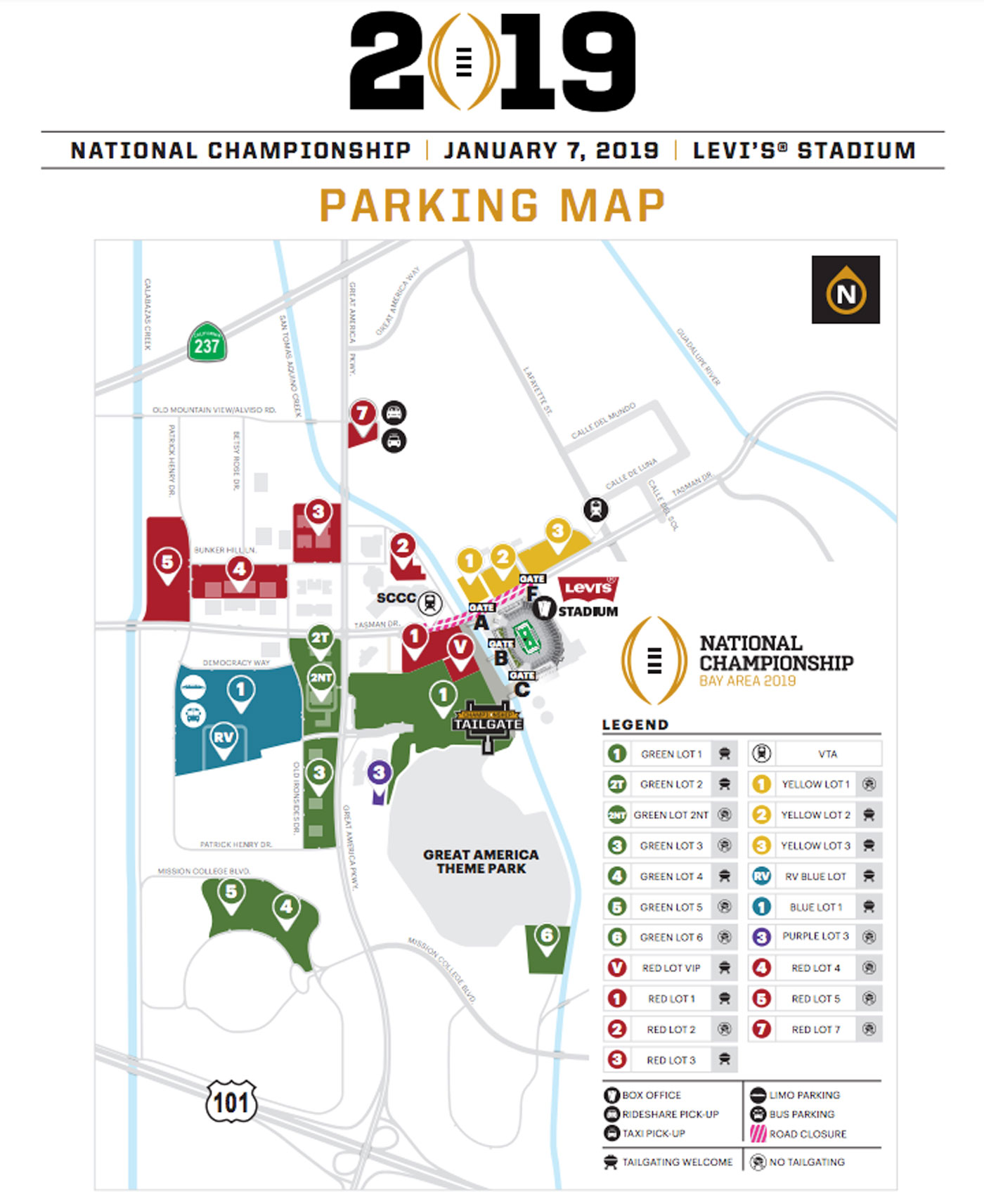 Clemson Parking Map on
