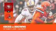 Week 5: 49ers vs. Browns
