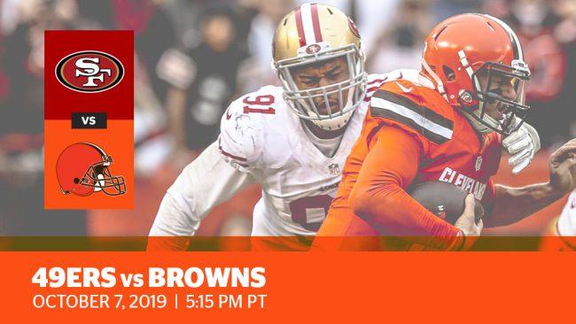 Week 5: 49ers vs. Browns