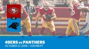 Week 8: 49ers vs. Panthers