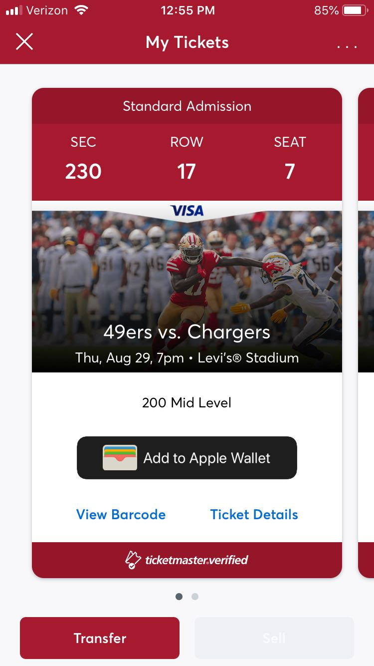 photograph relating to 49ers Printable Schedule titled 2019 49ers Plan - Levis® Stadium