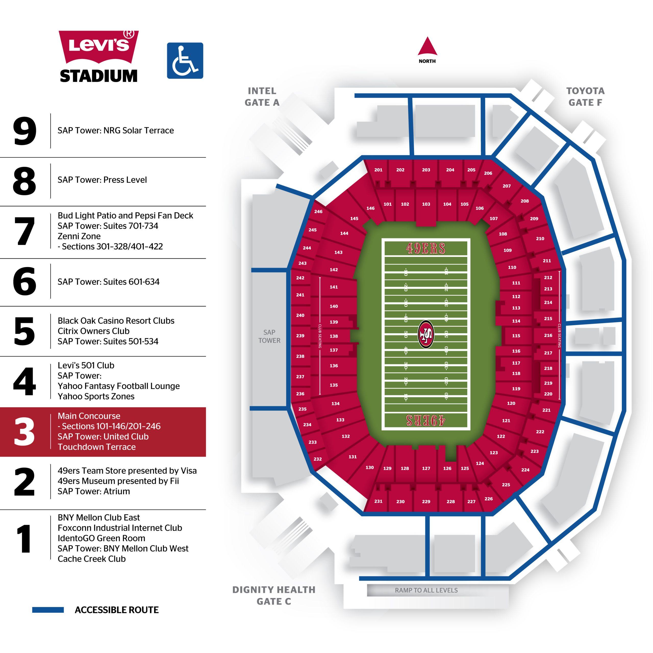 Levi's® Stadium 300 Level Map