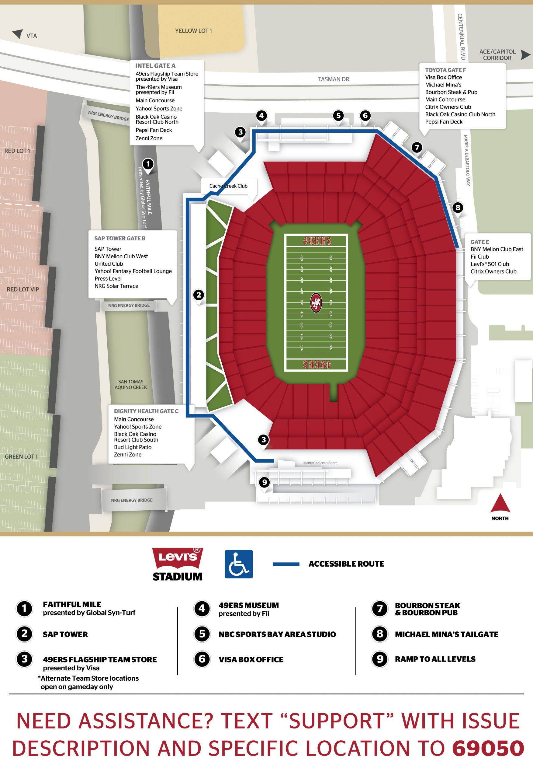 Levi's® Stadium 200 Level Map
